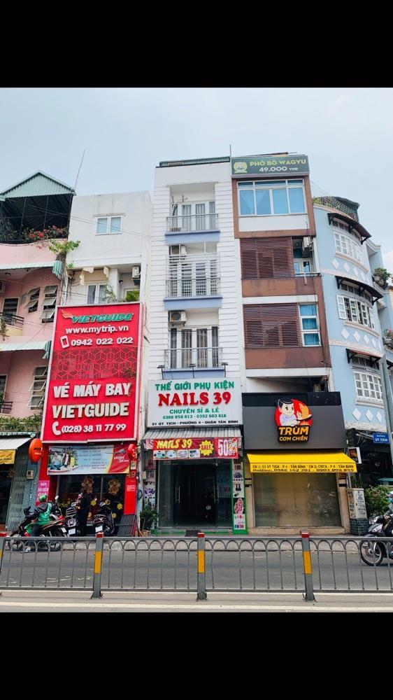 Cho thuê nhà mặt tiền 51 Út Tịch, Tân Bình,250m2